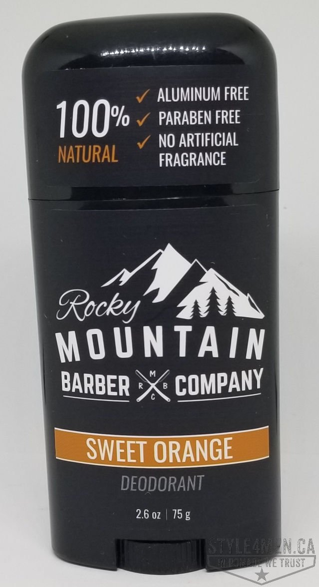 A delicious natural sweet orange deodorant from Rocky Mountain Barber Co.