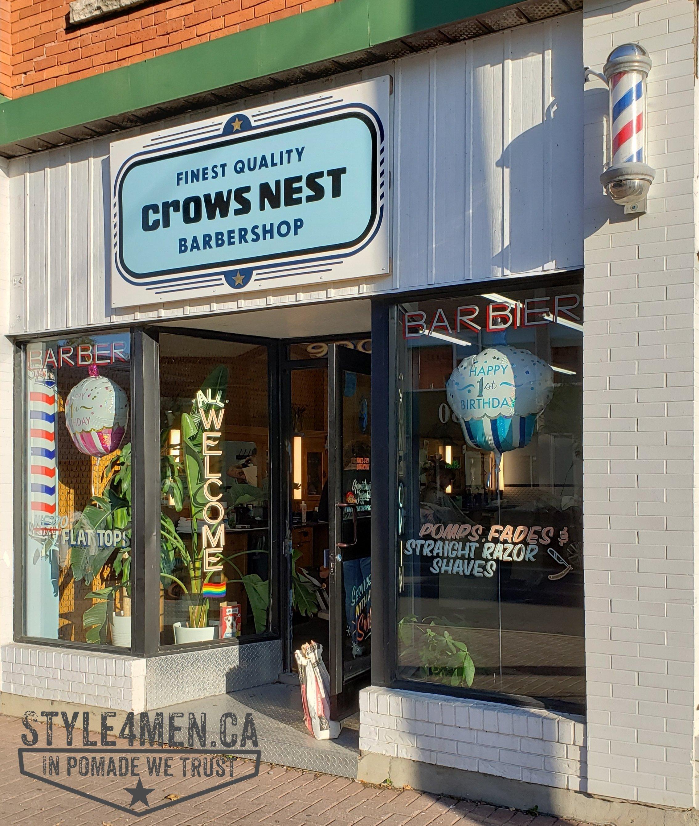 Ottawa's Crows Nest Barbershop on Wellington Street