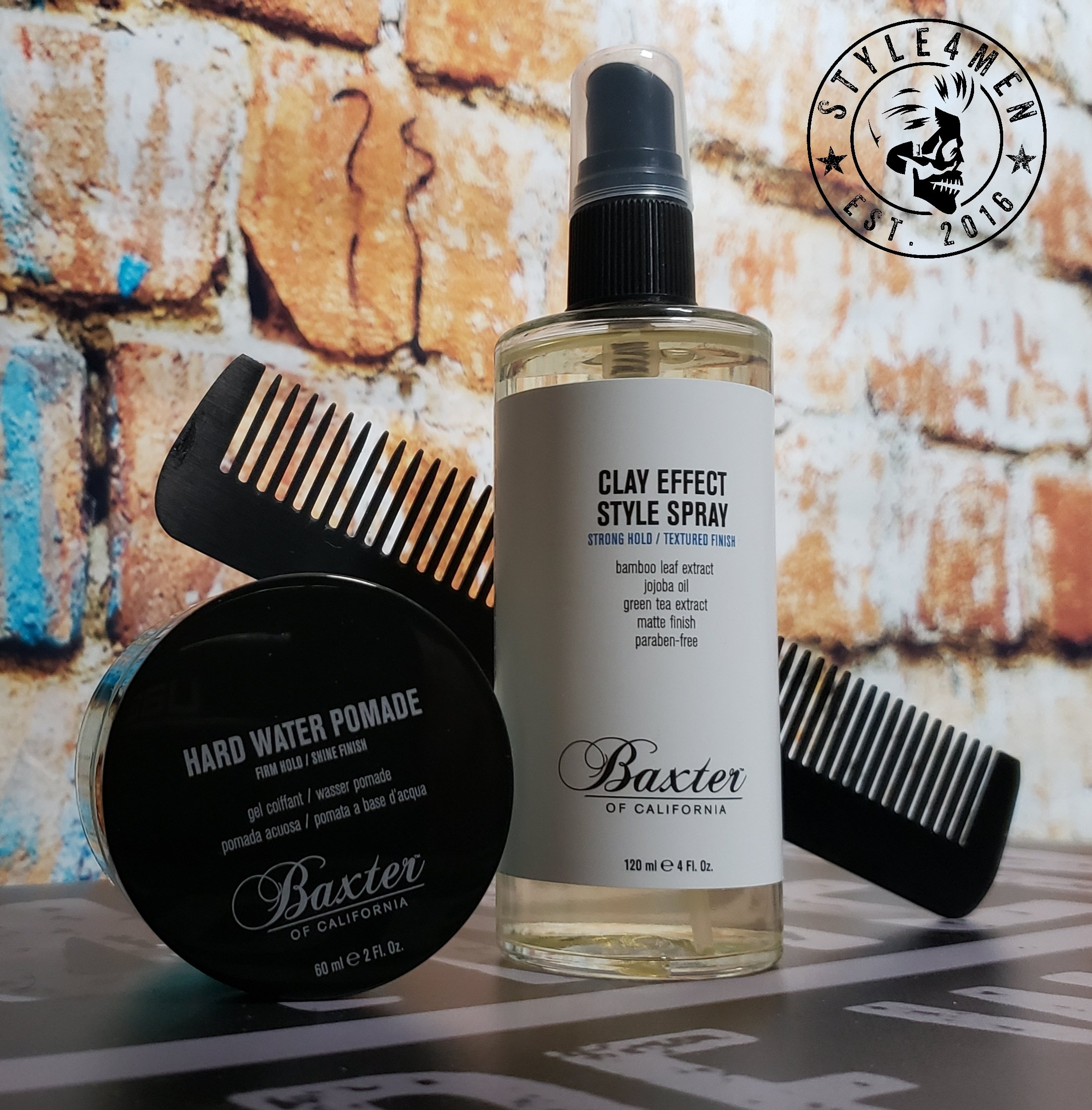 Baxter of California – Style Spray and Hard Water Pomade
