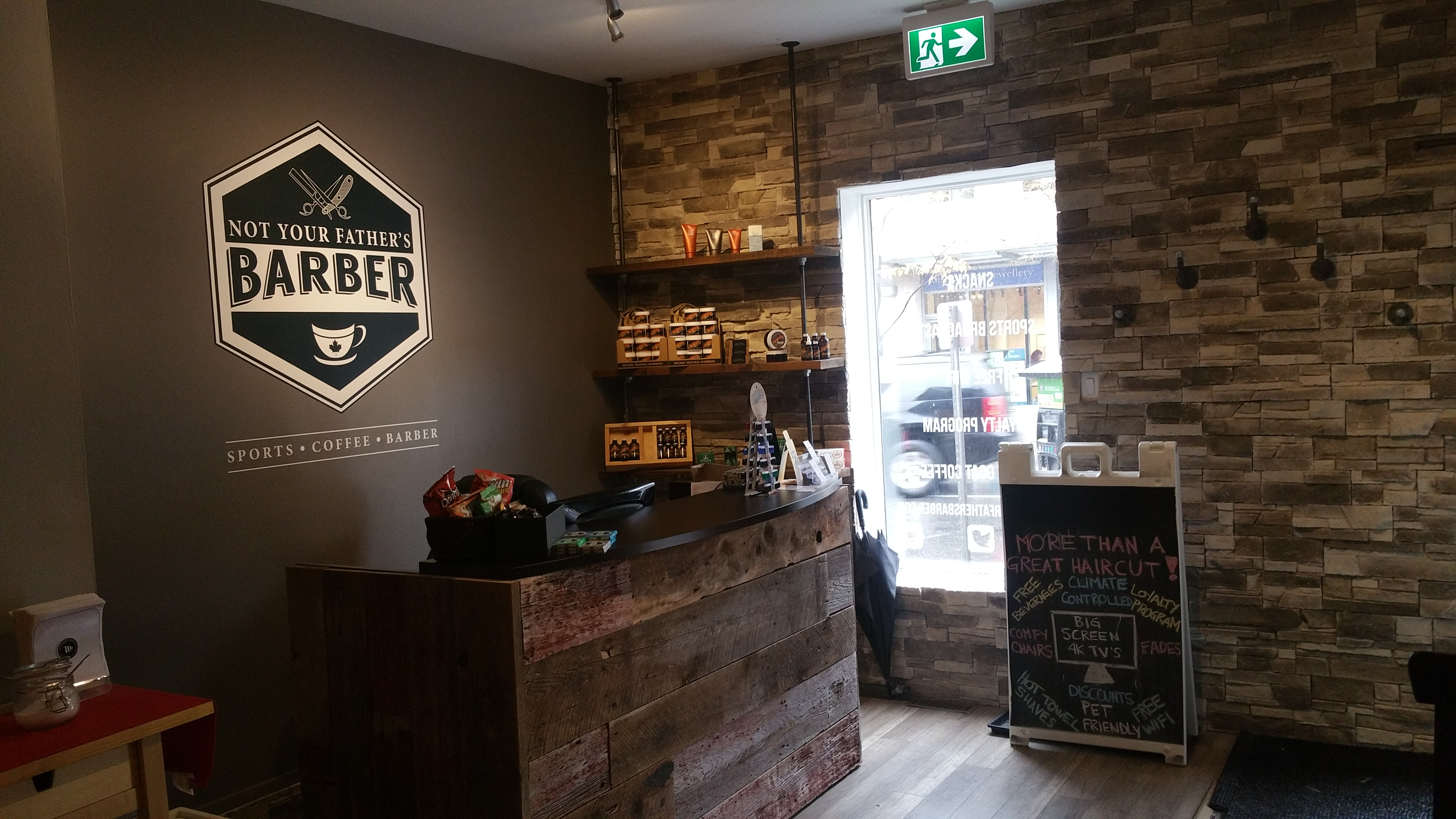"""Straight Razor shave at """"Not your Father's Barber"""""""