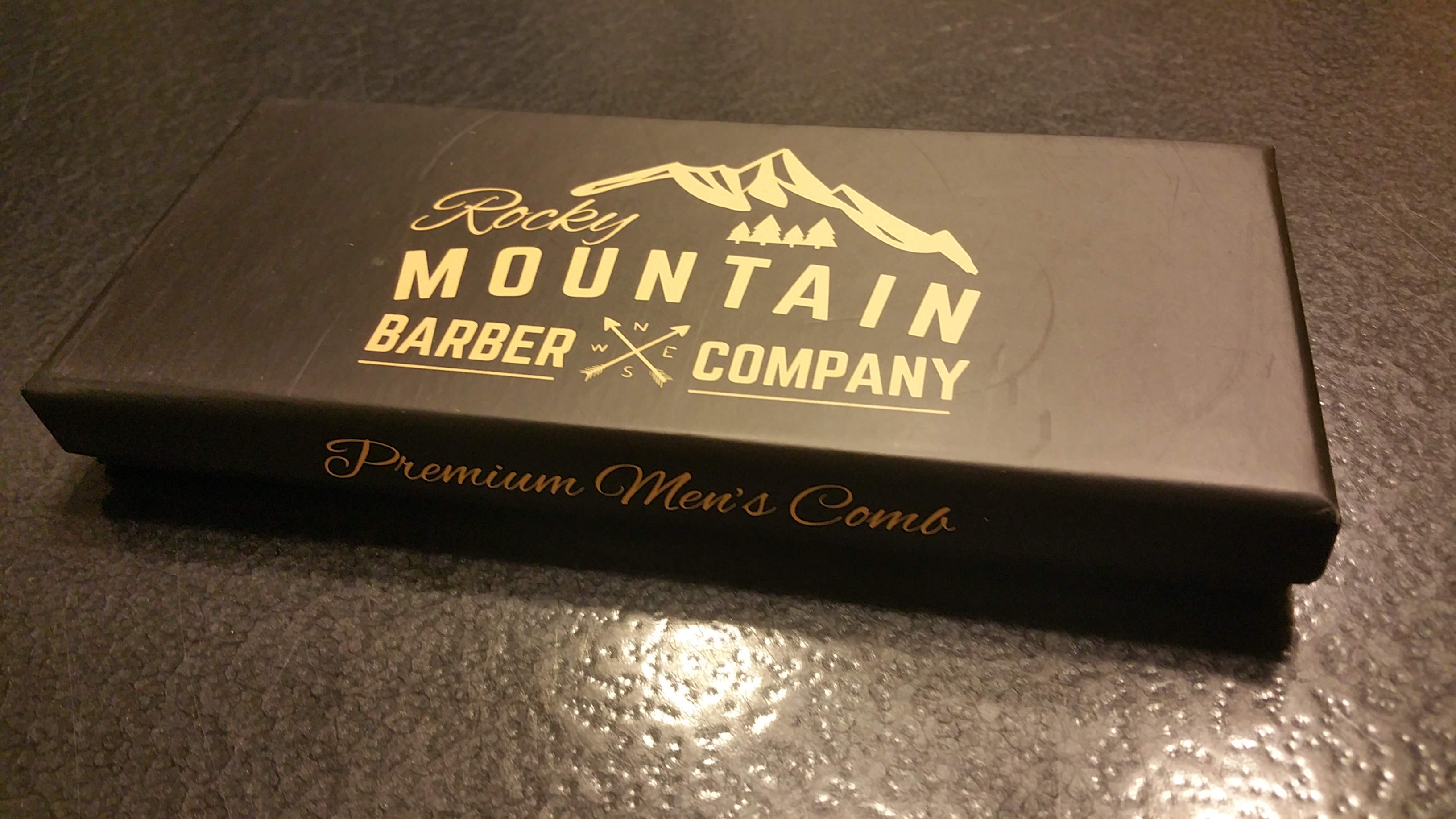 Stylish and convenient comb by the Rocky Mountain Barber Company