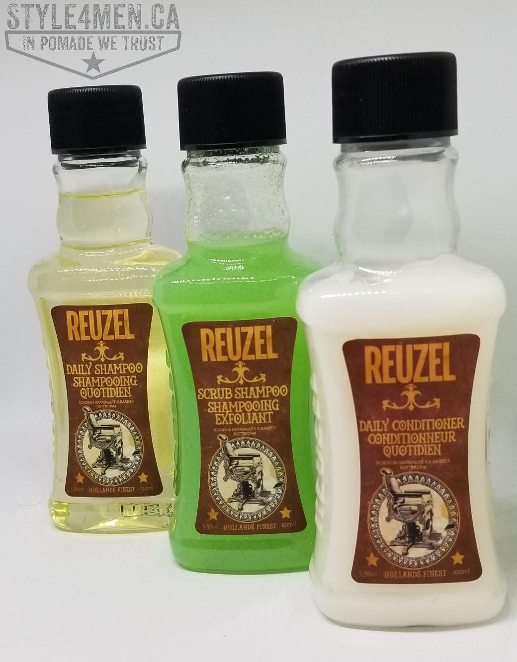 REUZEL's Shampoos and Conditioner Team – their scrub shampoo is unique!