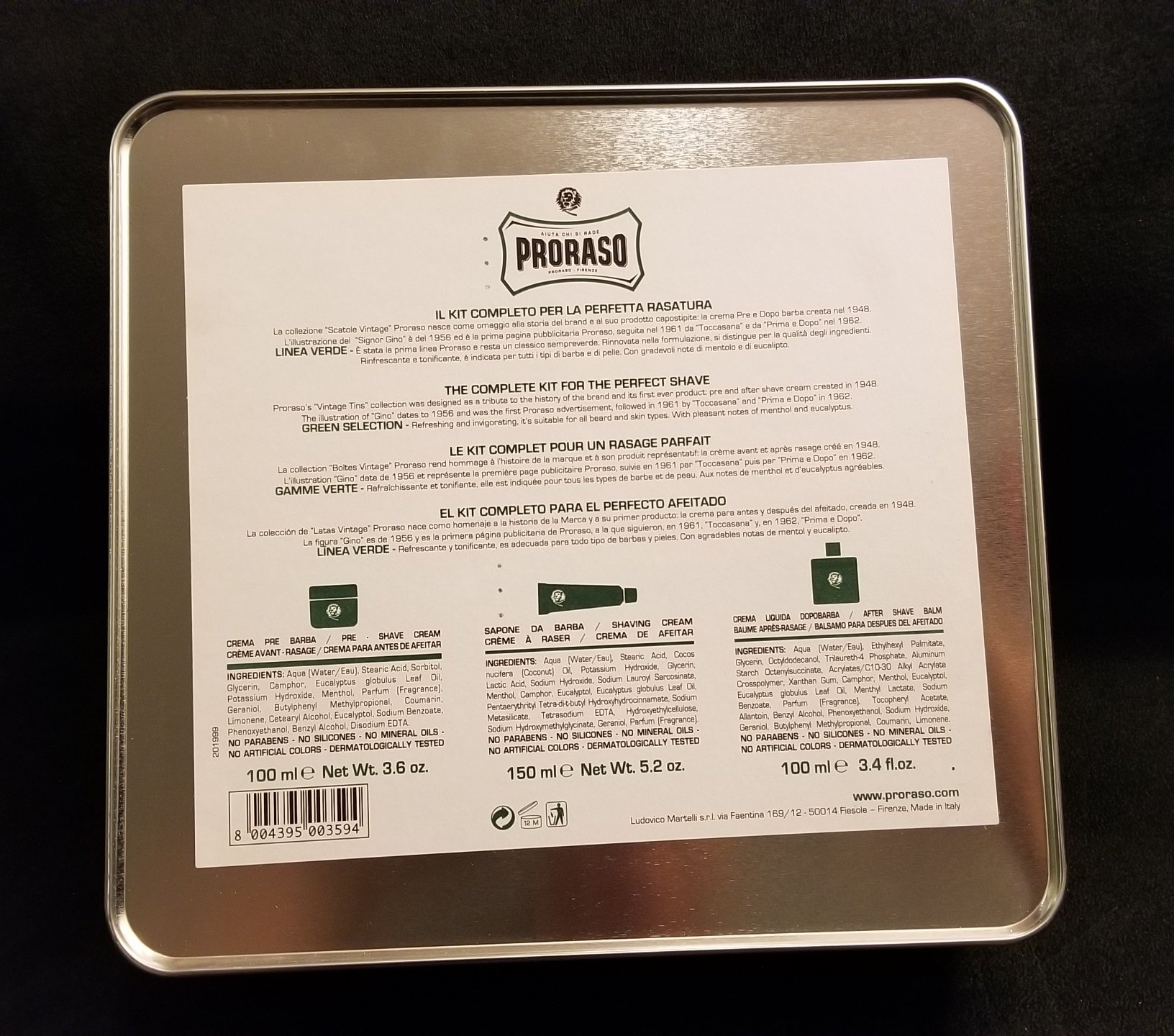 Proraso Green Product Set