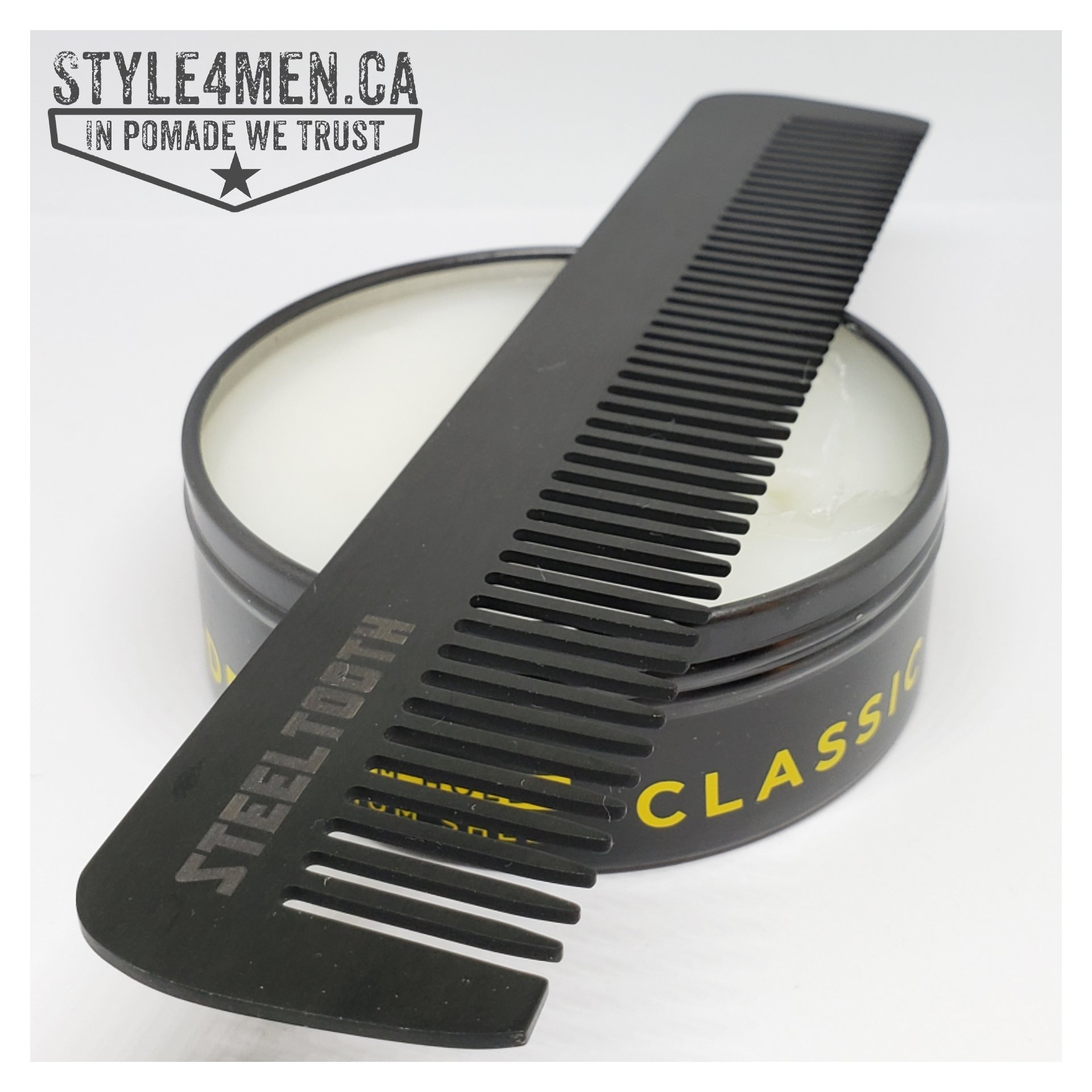 The all steel anti-static Comb by Steel Tooth