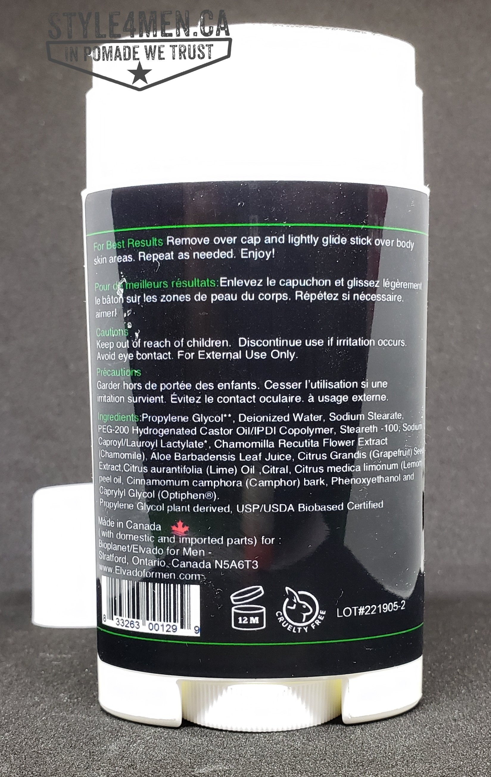 Elvado Deodorant