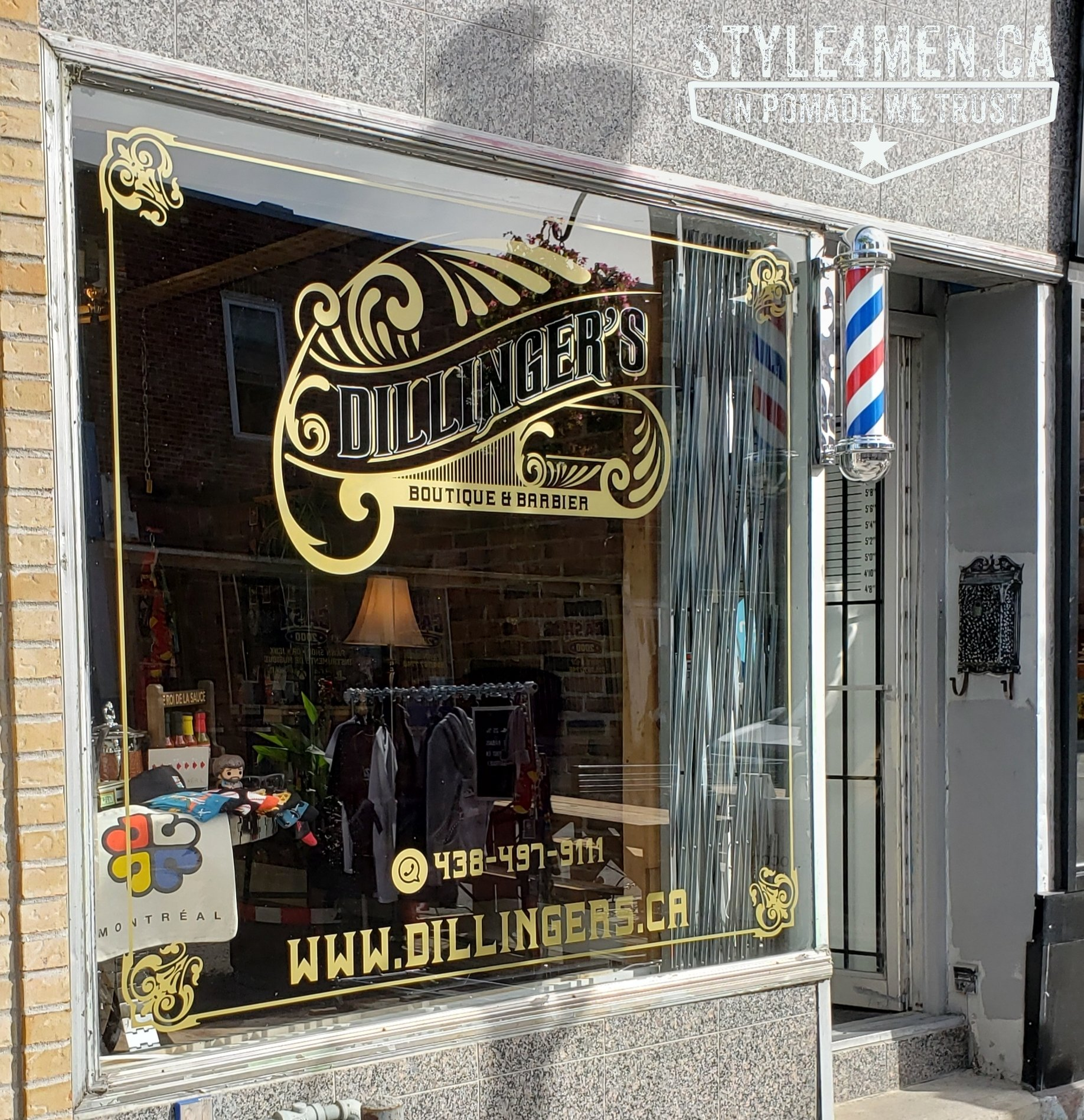 A visit at Dillinger's Barber & Boutique in Montreal