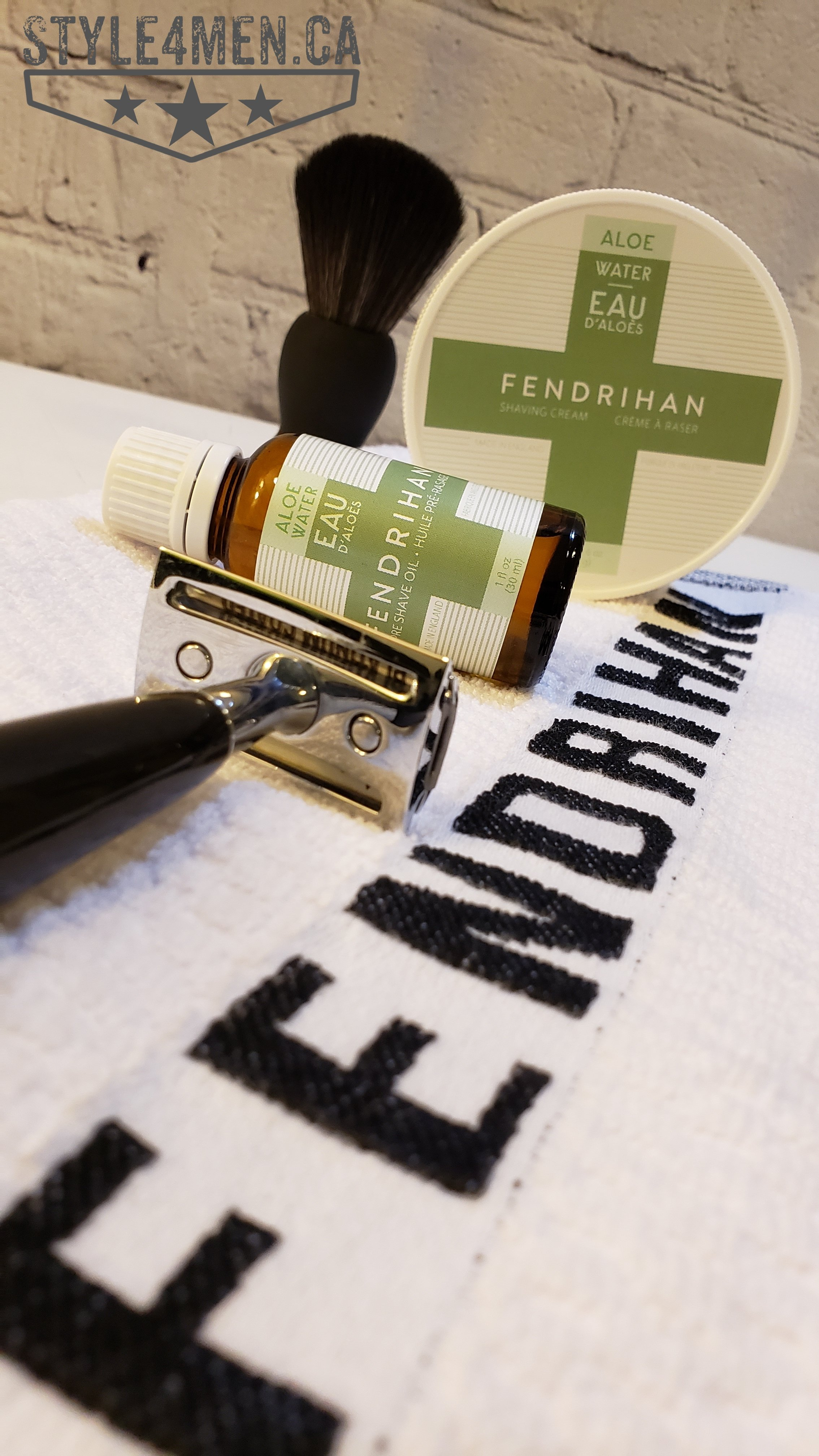 Shaving with FENDRIHAN's Aloe Water shave oil and shave cream