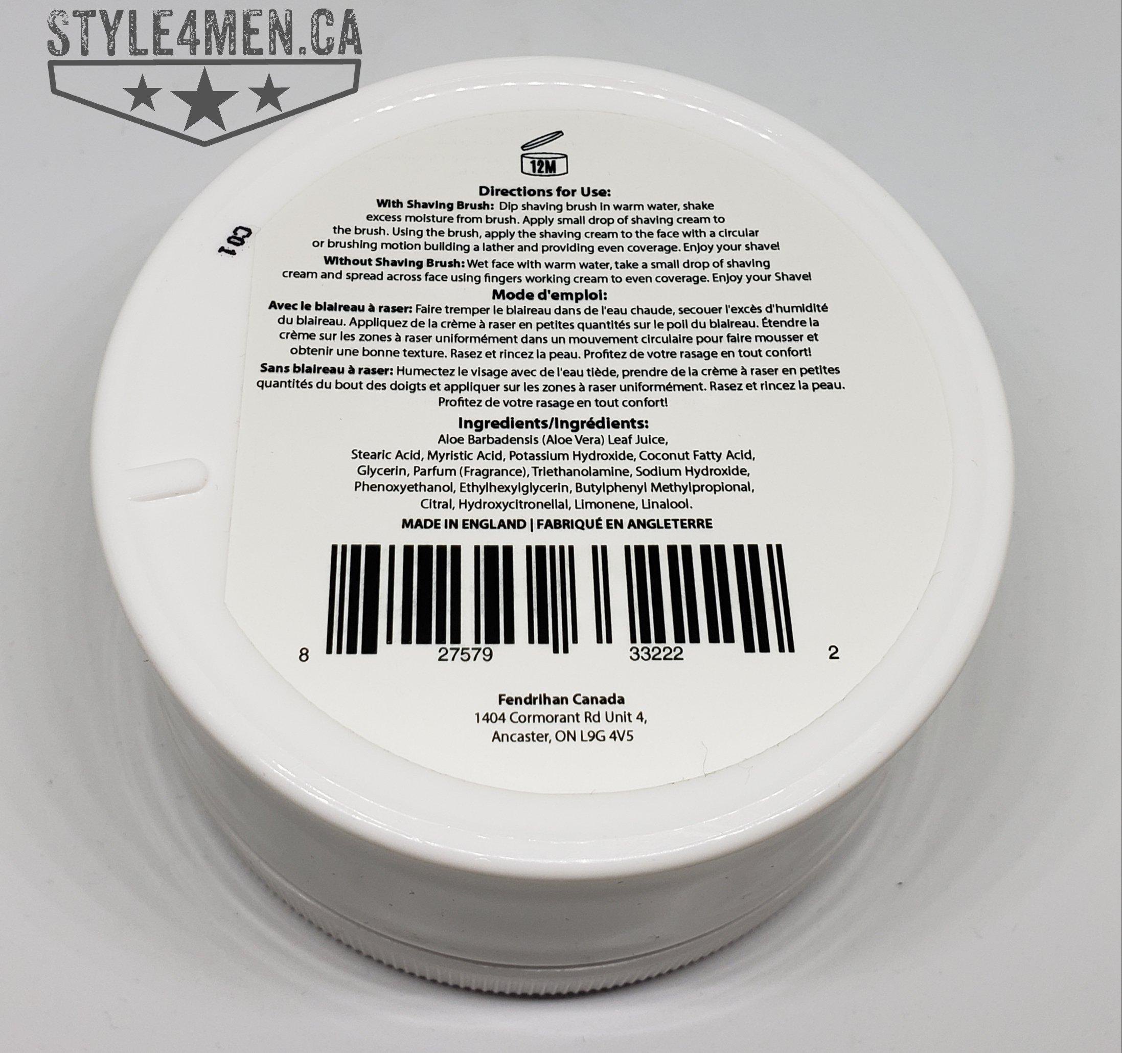 FENDRIHAN Shave Cream