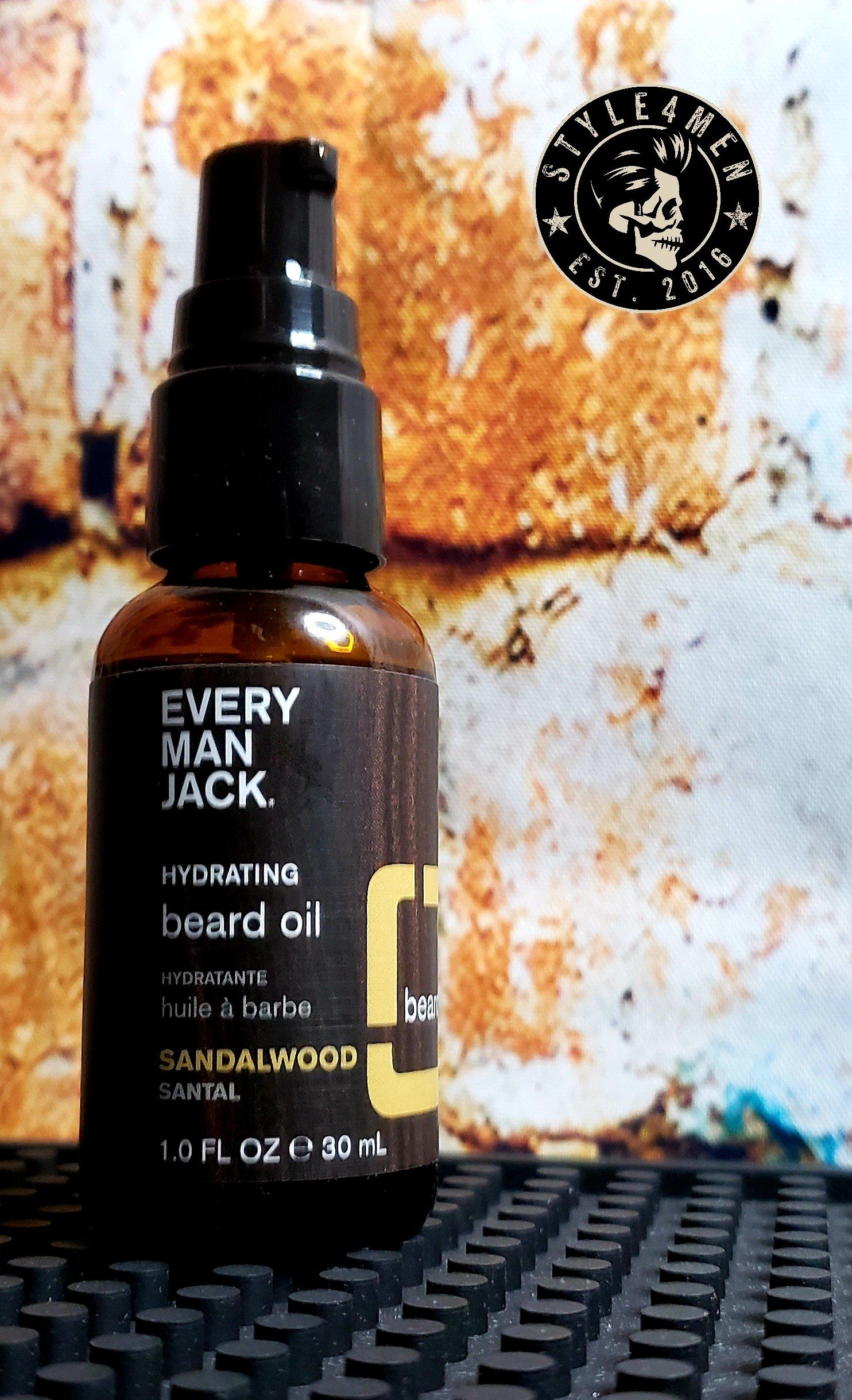 Every Man Jack's Sandalwood Beard Oil – Yum!