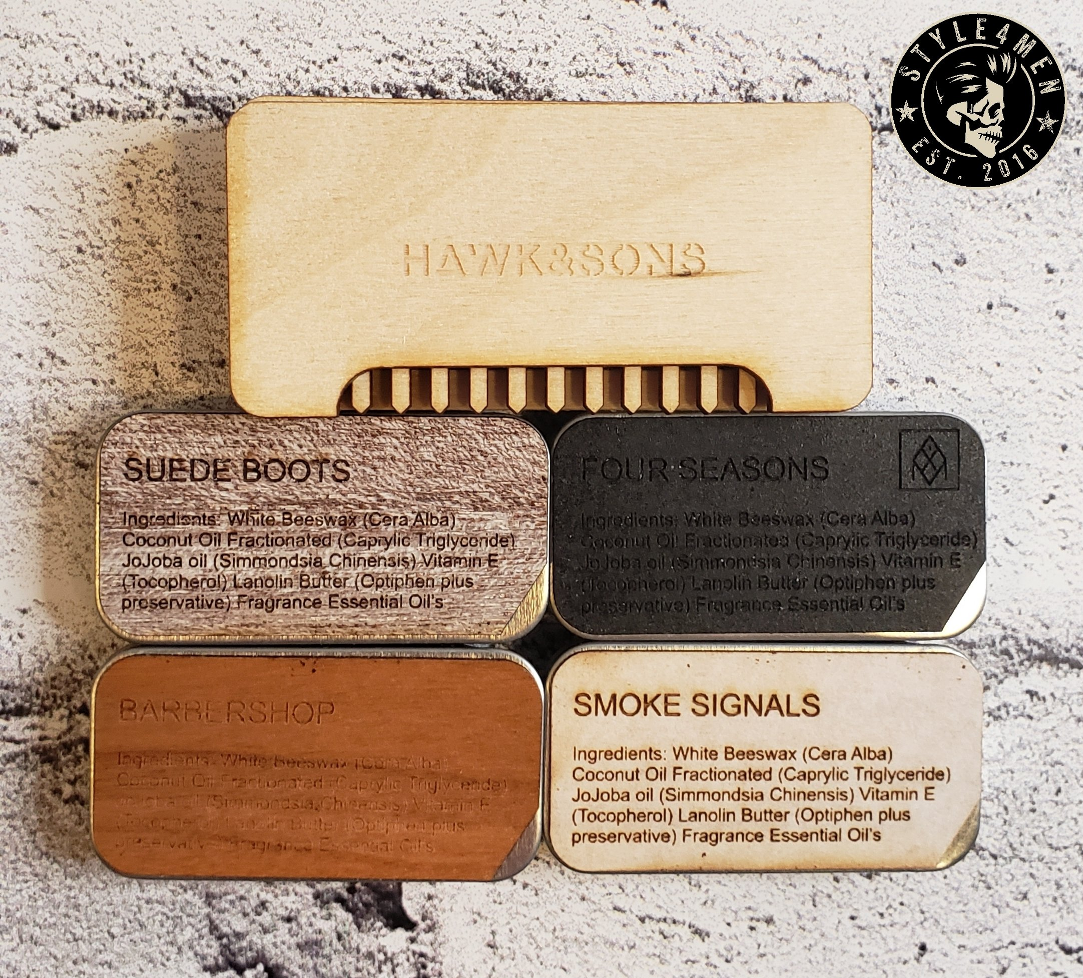 Hawk & Sons solid cologne range