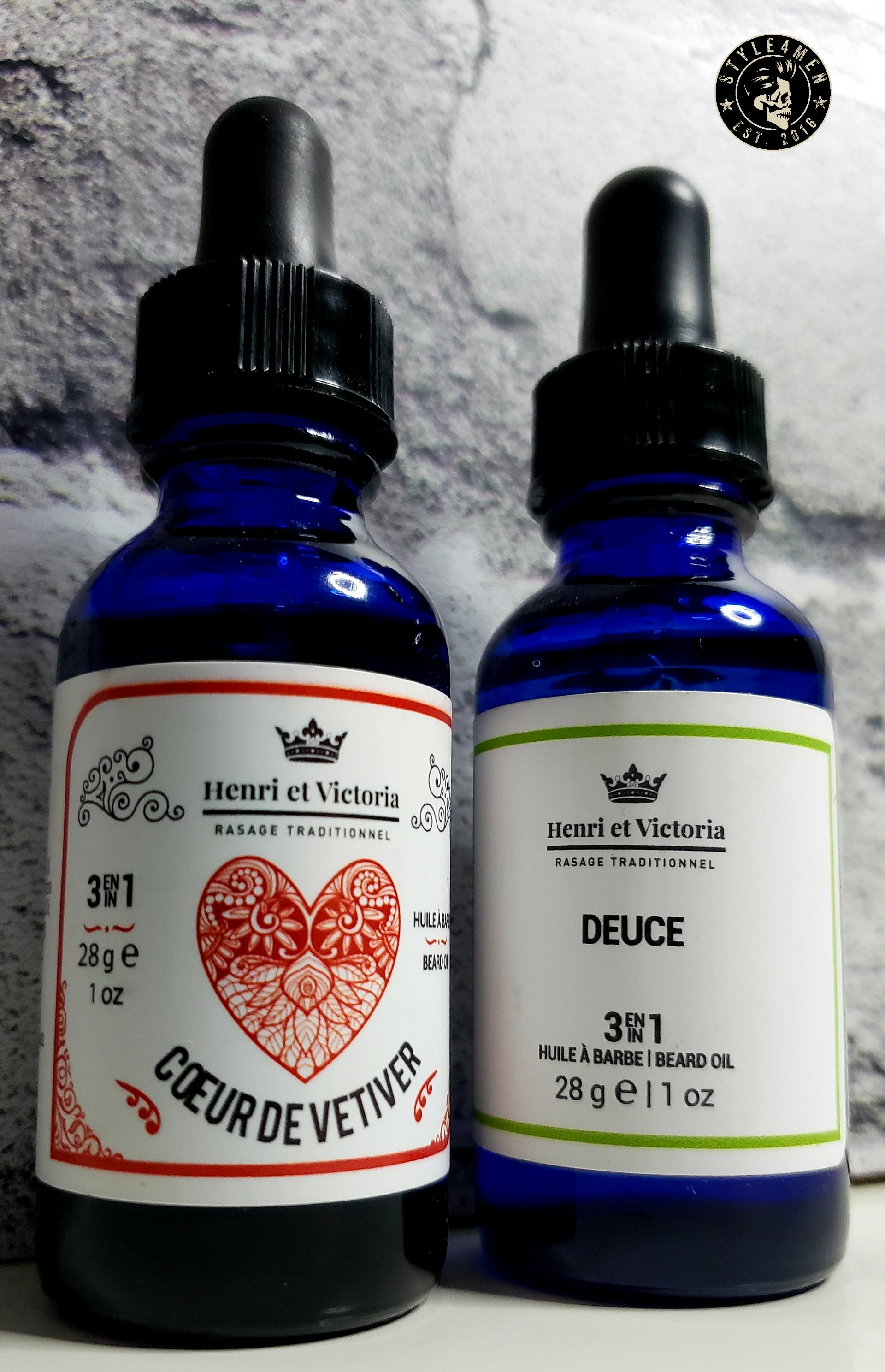 The smooth beard oils by Henri et Victoria